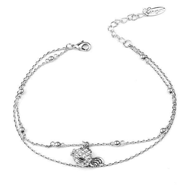 Высокое качество ножные браслеты с австрийской ножной браслет из золото ножной браслет конструкции для рыб форма мода браслет