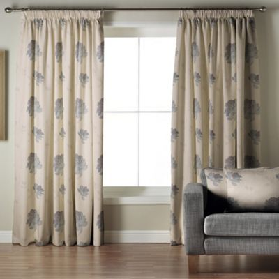 Whiteheads Mozart Denim Lined Pencil Pleat Curtains- at Debenhams Mobile