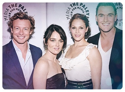 Simon Baker, Robin Tunney, Amanda Righetti, Owain Yeoman - Paleyfest for The Mentalist