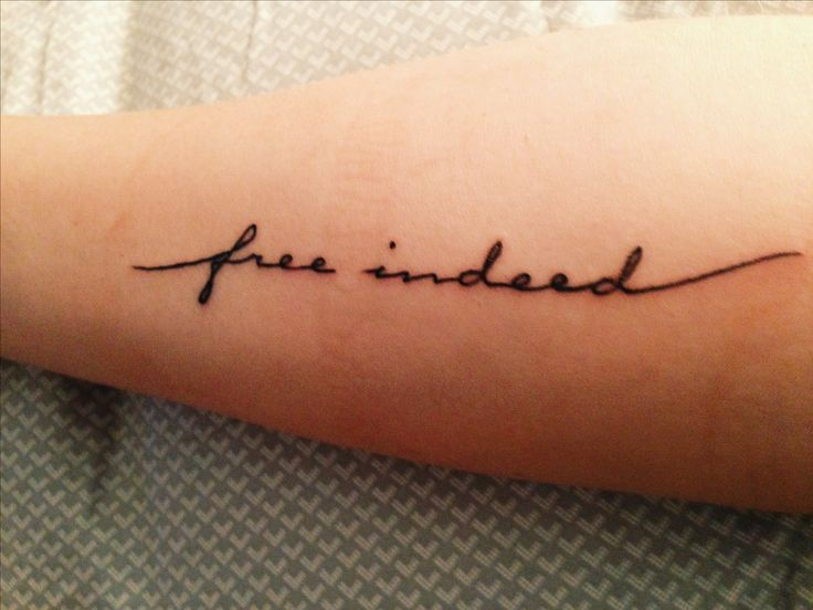 If I ever lost my mind and decided to get a tatoo this is what it would say