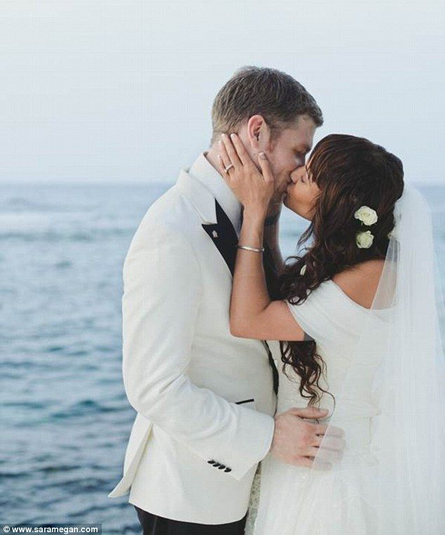 In the tropics: On July 5 Vampire Diaries co-stars Joseph Morgan, 33, and Persia White, 41, said, 'I do' in an intimate beach wedding in Och...