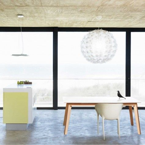 Bianco II extending dining table