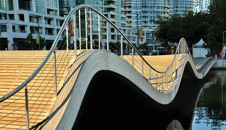 In place for a few years now, West 8's WaveDecks are located along Queens Quay, one of the most tourist-friendly strips on the waterfront. The high-traffic promenade will be completed this June, with a 1.7-kilometre allée, fed by an underground system of Silva Cells to ensure that the trees mature and thrive.