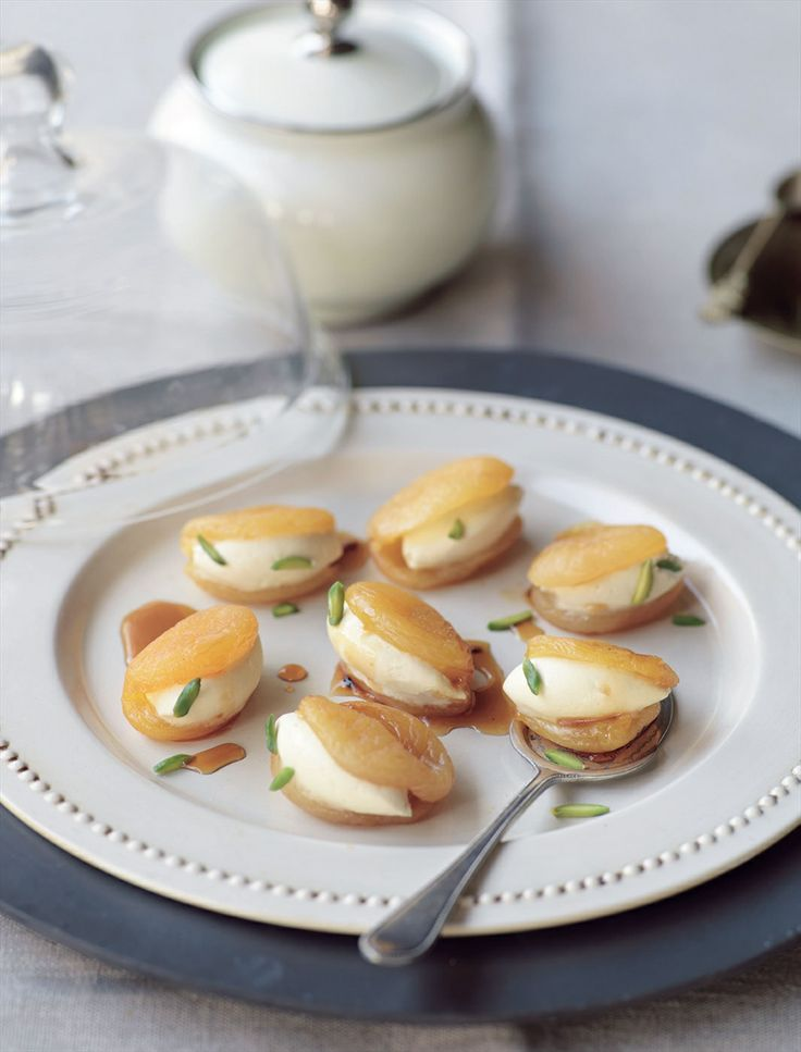 Sticky apricots stuffed with clotted cream recipe by Greg Malouf | Cooked