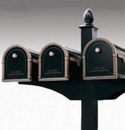Decorative Side Bracket for 2 Mailboxes