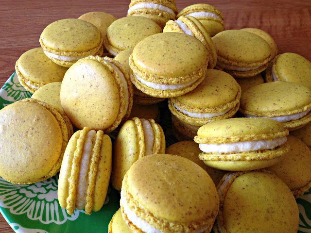 Meyer Lemon French Macarons by bakingperfection - recipes,baking,food