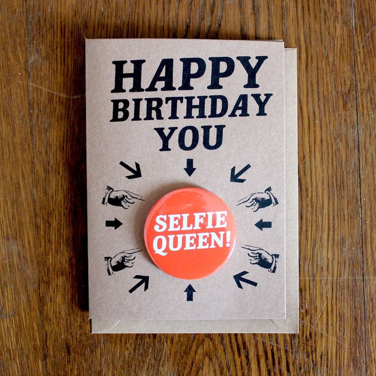 SELIE BIRTHDAY CARD #selfies #birthdayselfie #selfiequeen https://www.etsy.com/listing/228949988/birthday-card-happy-birthday-selfie