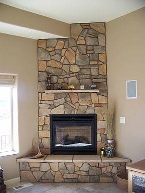 Corner fireplace for basement