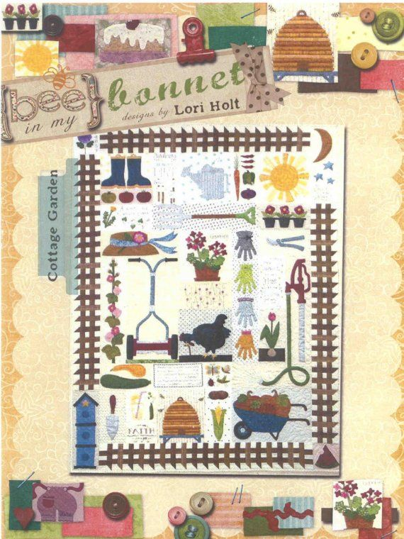 Cottage Garden Applique Quilt Pattern By Lori Holt