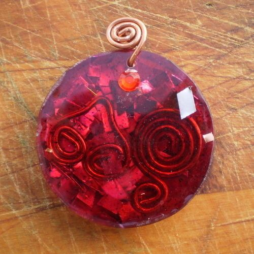 Reiki Healing Energy Orgonite Pendant For Emf Protection Necklace