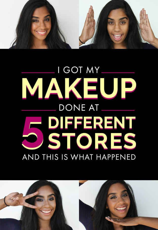 Nina Mohan asked five makeup artists at different counters to give her glam makeovers to see how differently cosmetics are perceived, particularly for women of color.