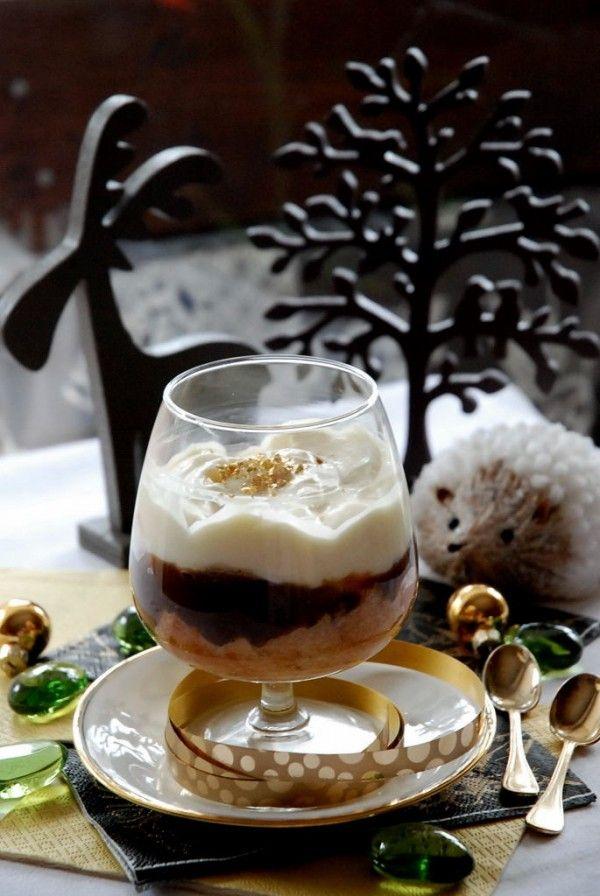 Trifle à la neige de Noël (crème de marrons)