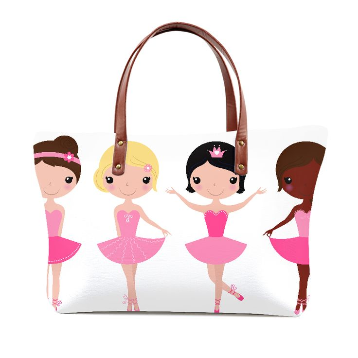 Tote bag with Dancing Kids pink