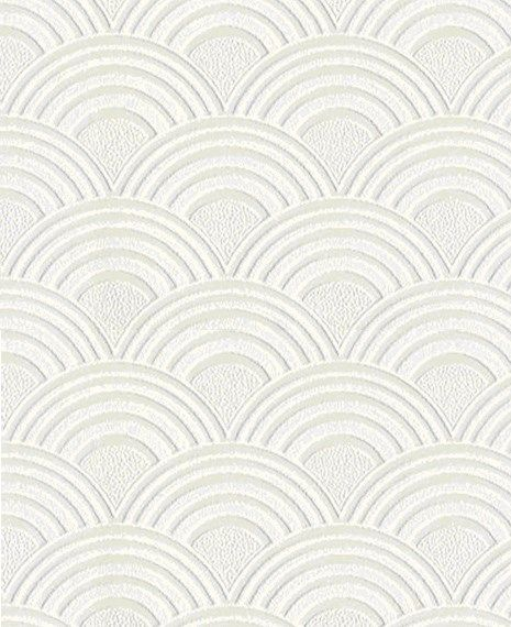Paintable Arches White Wallpaper Geometric Wall