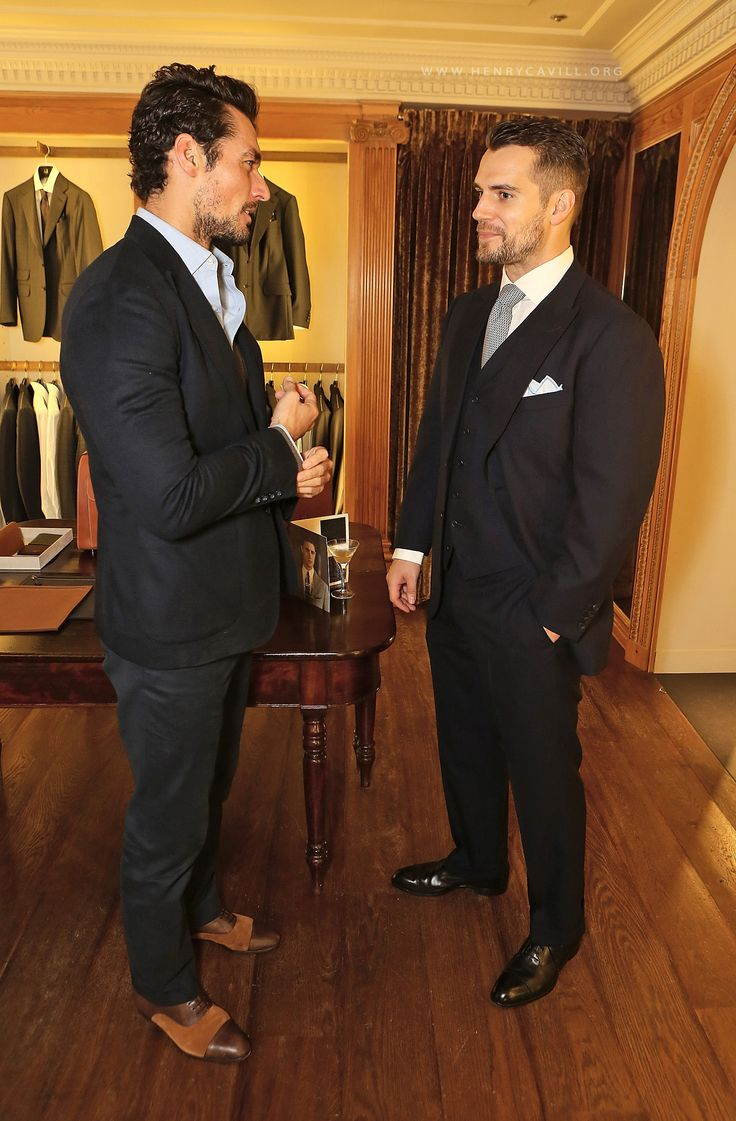 Henry Cavill and David Gandy at World Land Trust's 'Name an Orchid' Event
