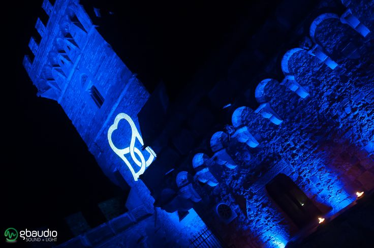 Lighting for wedding party at Castello di Vincigliata - Florence, Italy