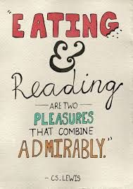 Image result for quote about food and books