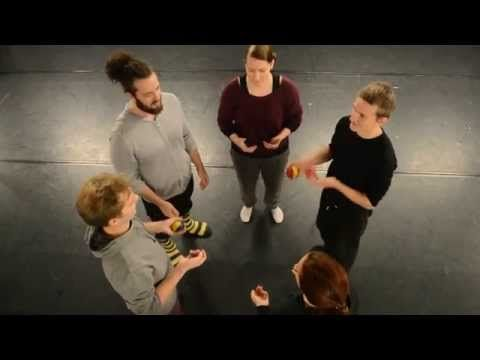 Basic juggling exercises - YouTube