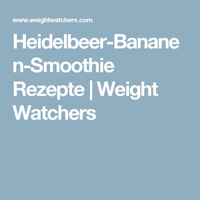 Heidelbeer-Bananen-Smoothie Rezepte | Weight Watchers