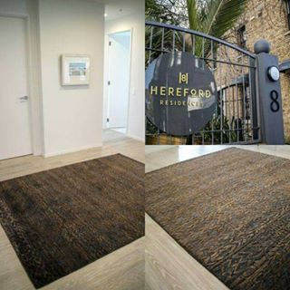 This beautiful Mozambique rug has found its home at the Hereford Residences, and doesn't it look fantastic? #apartmentdecor #interiordesign #damask #rugs #sourcemondialnz