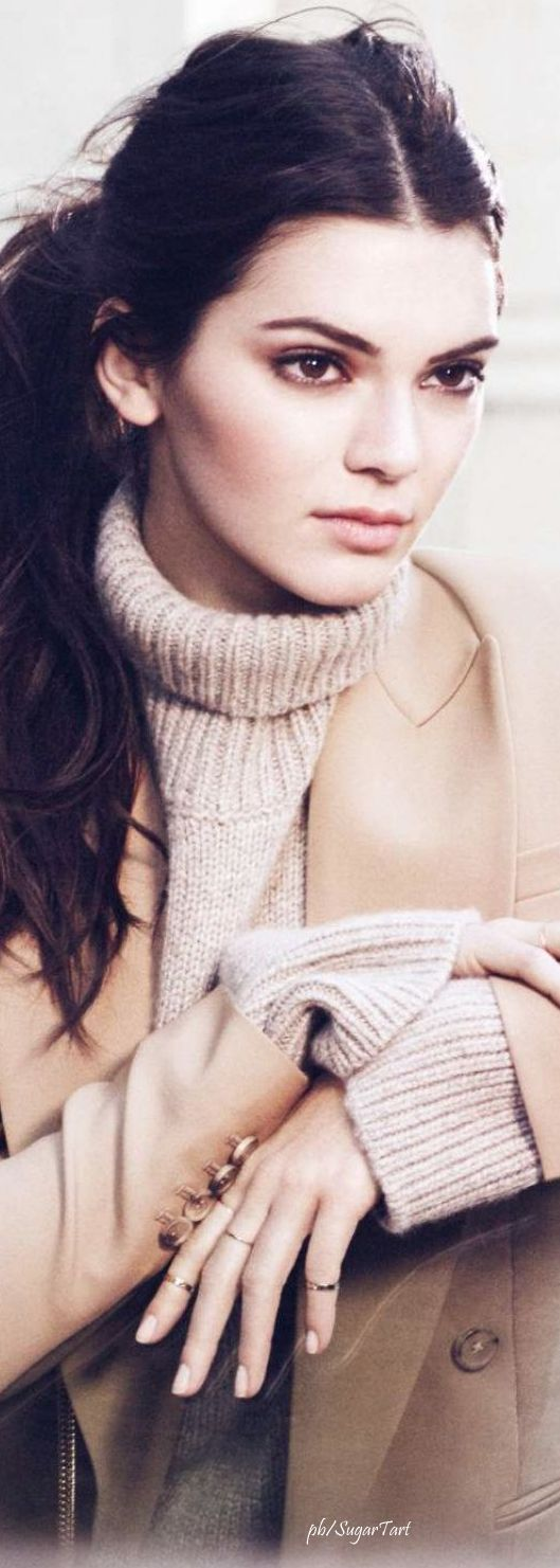 Kendall Jenner for Estee Lauder via @rjaho1. #sweaters #sweaterweather