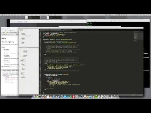 Create a Sails.js live chat - Tutorial with Mike McNeil - Fixed Audio