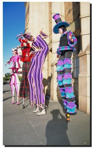 I want to make costumes for stilt walkers some day soon . . .