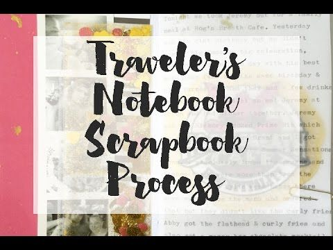 Traveler's Notebook Scrapbook Process Video - Adding Interactive Elements