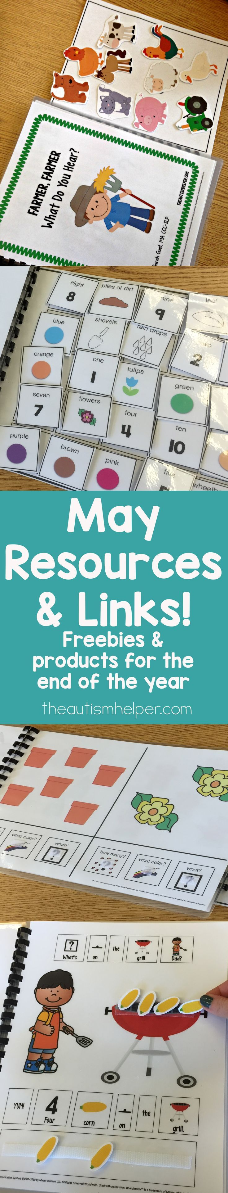 I always print a bunch of new resources for these last few weeks to keep the attention of both my students & me! Check out the great freebie links from other teacher authors PLUS resources that are rockin in my classroom right now. From theautismhelper.co