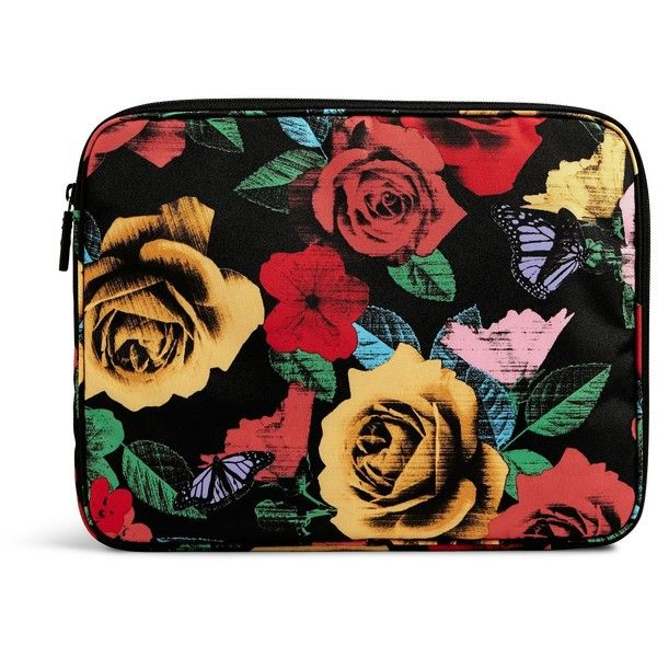 Vera Bradley Lighten Up Laptop Sleeve in Havana Rose ($38) ❤ liked on Polyvore featuring accessories, tech accessories, havana rose, vera bradley laptop case, padded laptop case, vera bradley, laptop cases and laptop sleeve cases