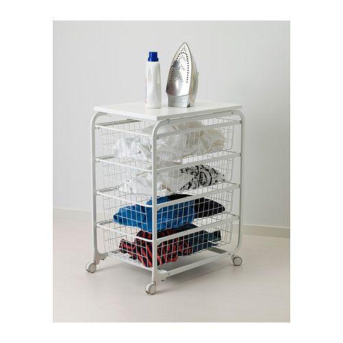 ALGOT Frame/wire baskets/top shelf/caster IKEA
