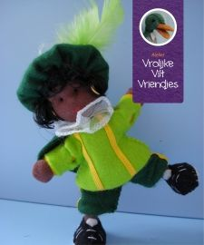 Zwarte Piet touwpopje tricot
