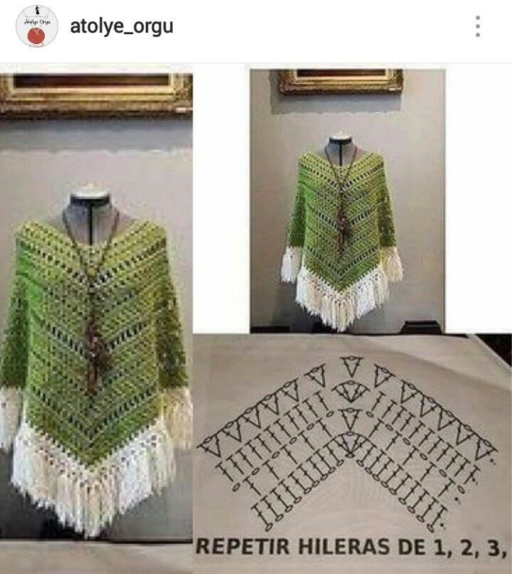 Instagram - @atolye_orgu ~ Crochet woman's shawl