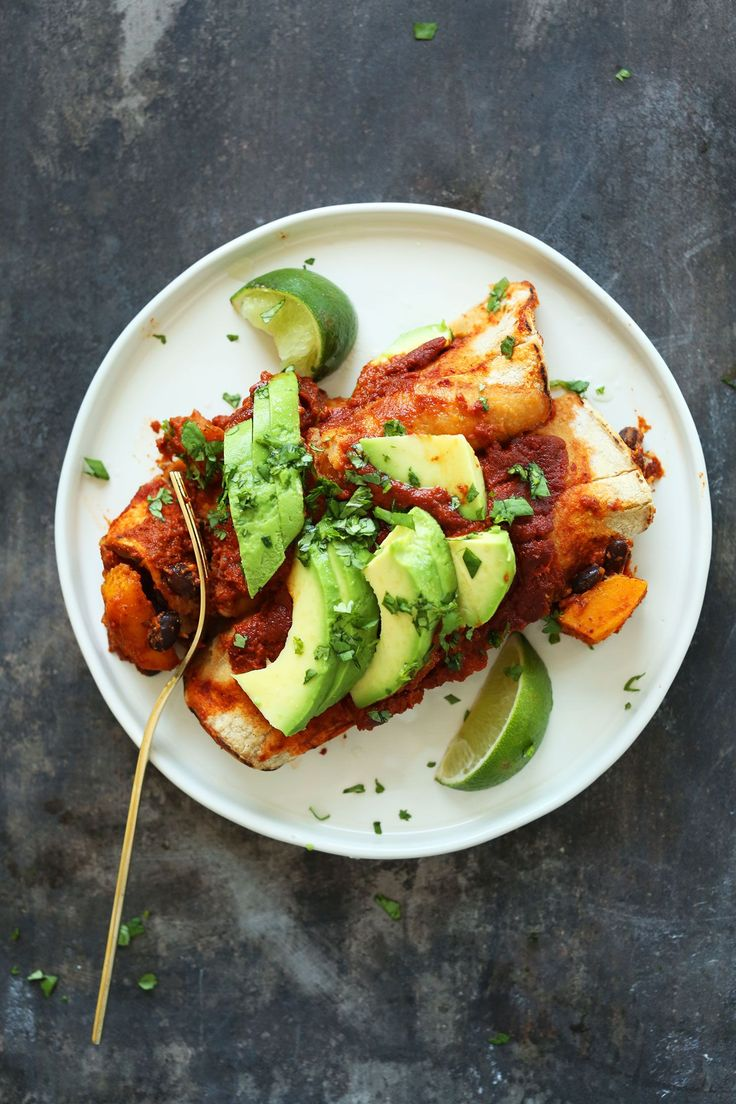 Butternut Squash Black Bean Enchiladas | Minimalist Baker