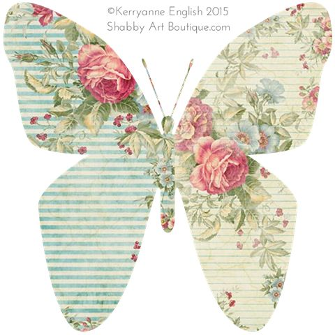 Shabbilicious Butterflies - free printable butterflies to download from Shabby Art Boutique