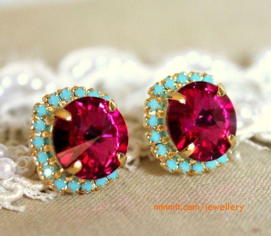 ruby-turquoise-earrings