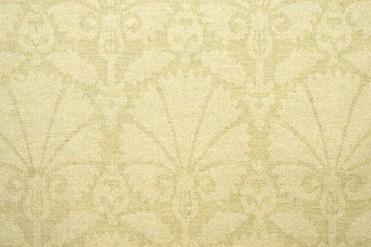 Kintore Lambswool Fabric 100% Lambswool Upholstery fabric in Sage with lighter damask design.