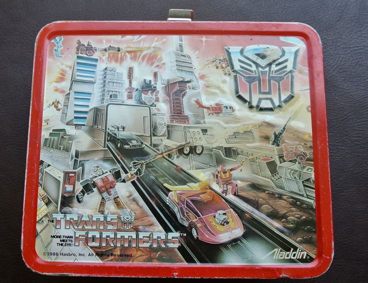 Vintage Lunch Box, 1986 Tranformers Lunch Box, Aladdin Metal Lunch Box, 1980s LunchBox, Tin Lunch Box by DomesticTitanVintage on Etsy