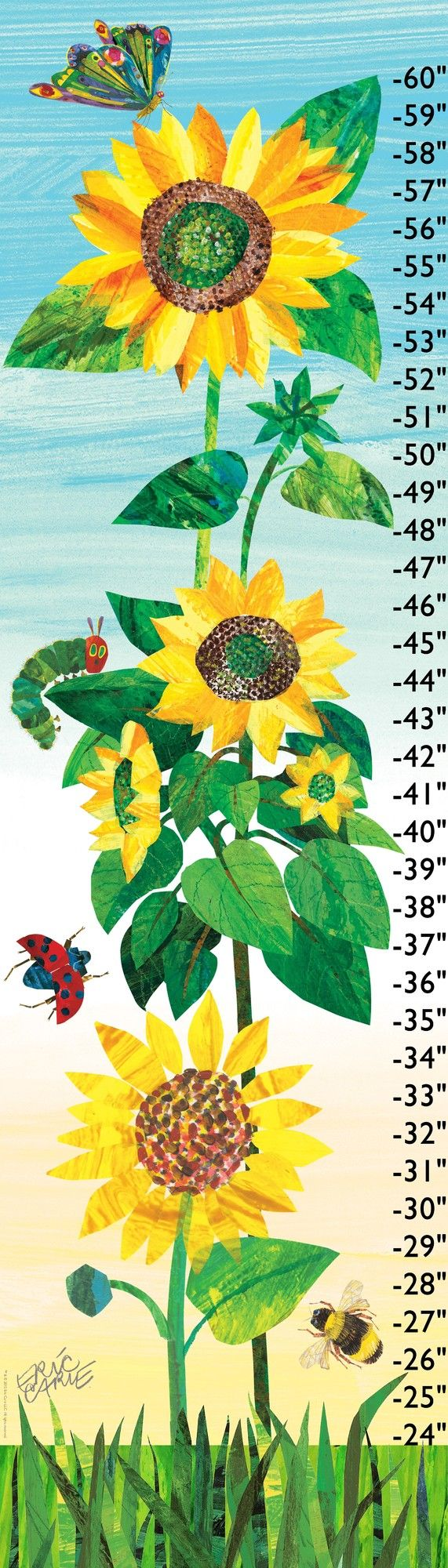 74 best growth charts images on pinterest height chart growth marmont hill sunflowers growth chart by eric carle canvas nvjuhfo Choice Image