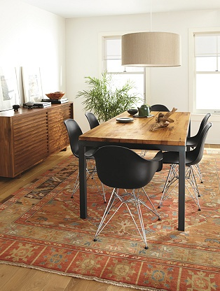 Parsons Tables - Tables - Dining - Room & Board. DREAM DINING ROOM!! Black Eames chairs are perfect!