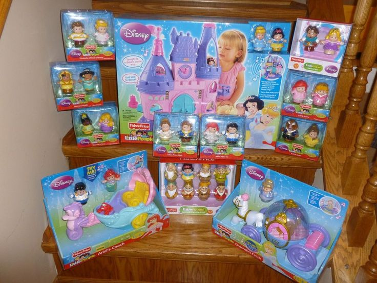 Lot Fisher Price Little People Disney Princess Songs Palace Castle Coach #FisherPrice