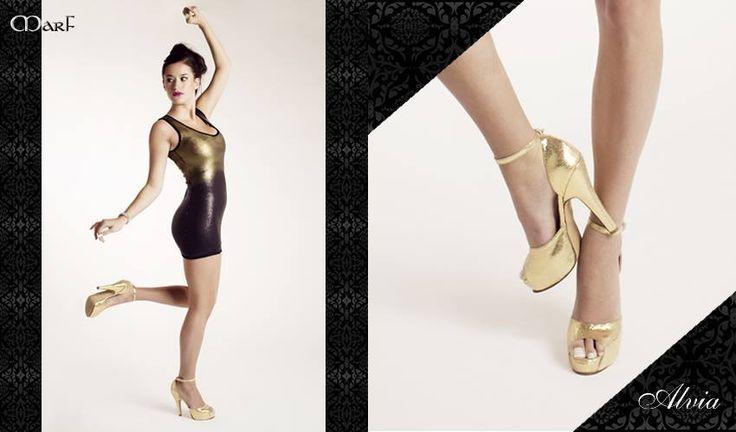 Zapatos MARF : MODELO ALVIA  Cabritilla plata u oro