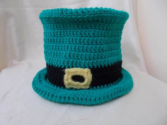 St. Patrick's Day Crochet Top Hat Green Top Hat Saint