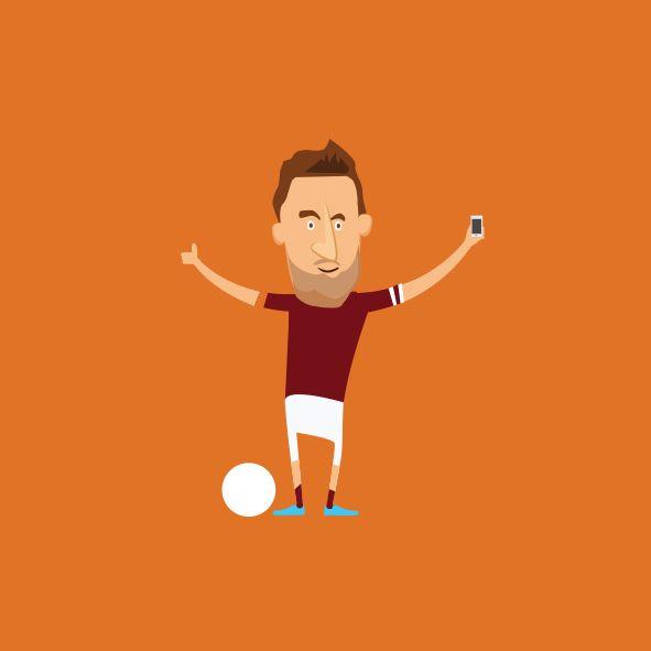 Totti Illustration #football #totti #roma #asroma #soccer