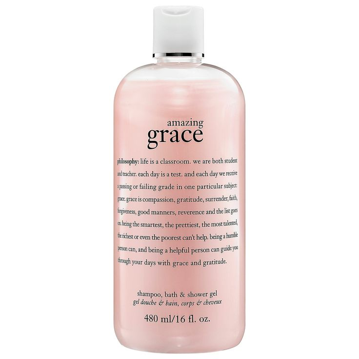 "Philosophy Amazing Grace Shampoo, Bath & Shower Gel // I have been using this body wash for 13 years now and will never stop. It leaves an amazing, subtle scent that lasts + lasts. I always receive compliments for ""smelling good"" when I wash with this."