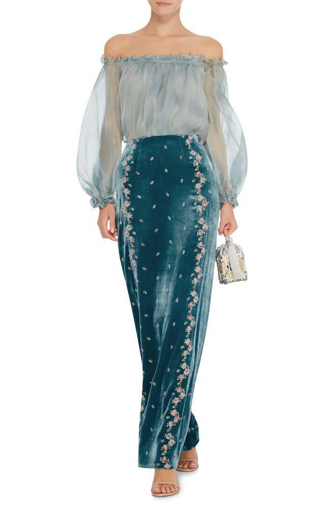 2b4c5ec7 Pin de Gabriela Dominguez en ropa en 2019 | Velvet skirt, Organza dress y  Couture dresses