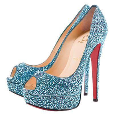 Christian Louboutin Platform Lady Peep 150 Strass Pumps Saphir [CLA0666] - $126.50 : Designershoes-shopping, World collection of Top Designer high heel UP TO 90% OFF!