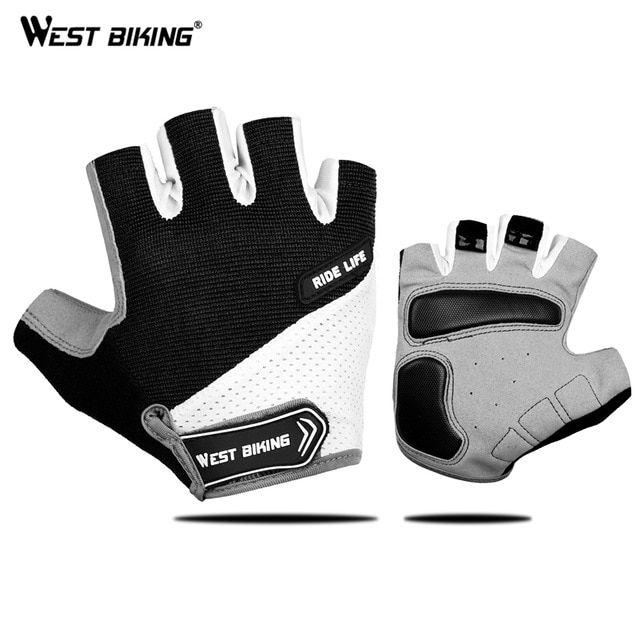 Buy West Biking Bicycle Gloves Outdoor Half Finger Gel Pad Sport