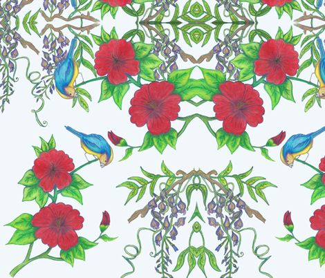 harmony in spring (RL) fabric by rosy_lees on Spoonflower - custom fabric