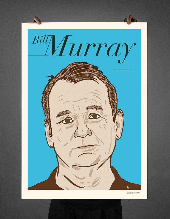 BILL MURRAY © Patryk Mogilnicki (screenprint).